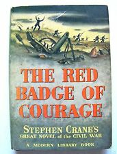 Vintage Modern Library Edition THE RED BADGE OF COURAGE w/Dust Jacket