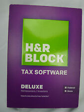 H&R Block Deluxe Software Homeowners Investors 2013 State Federal Tax New Sealed