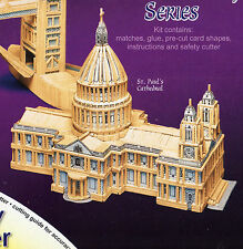 ST PAUL'S CATHEDRAL MATCHSTICK MODEL CRAFT KIT WITH CUTTER, BRAND NEW