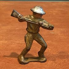Antique Vintage GREY IRON Cast Iron Toy Soldier Jabbing with Bayonet