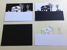 Winter Cabin Landscape die cuts Ideal for Christmas **FREE UK POSTAGE**