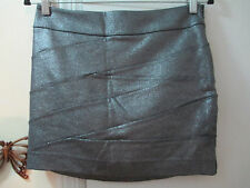 EXPRESS  -  Gray (shimmering) Stretchy Knit Mini Skirt  -  Size 4  -  New w/Tags