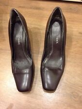 Next Brown Heels Heeled Court Shoes Size 4 -  E3441
