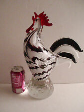 Murano glass large big Rooster colorful gift