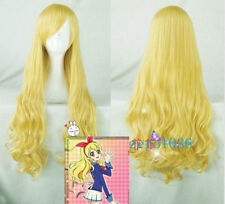Anime Aikatsu! Hoshimiya Ichigo Blonde Long Curly Cosplay Wig no75