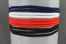Set pack of 10 thin skinny stretch elastic sport headband No Metal ouchless