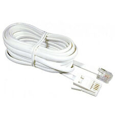 5 Meter RJ11 Broadband Internet Modem ADSL Cable Lead Telephone 5M Wire For BT