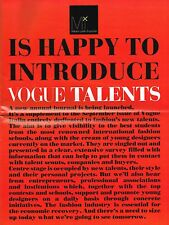 VOGUE TALENTS #1 September 2009 SUZY MENKES Sarah Mower LINDA LOPPA @MINT@