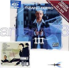 """TIZIANO FERRO """"111 CIENTO ONCE"""" RARO CD + DVD LIMITED MESSICO - SIGILLATO"""