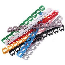 100 RJ45 RJ11 RJ12 Color Numeric Cable Label Mark Fr 4 to 6mm Outter Cable F5T6