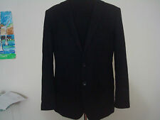 New J crew men Aldridge Two-Button Suit Jacket in Italian Wool 40S Black $425