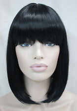 BOB Black Short Straight bangs Women Female Lady Hair Wigs Perruque +wig gift