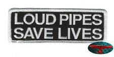 LOUD PIPES Patch Aufnäher Aufbügler Biker 1% Rocker Harley Oldskool Rockabilly