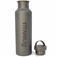 Titanium VARGO Water Bottle w/TI Lid, 650 ml Camping Container Outdoors NEW NIB