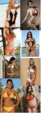 NWT Wholesale Lot 100 Pieces Women Bikini Bottoms Tops Bathing Suits Brand Name