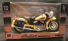 NewRay 1948 Indian Motorcycle Yellow Paint 1:6 Scale Die Cast - Cruiser Series