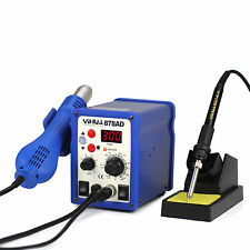 YH-878AD SMD ESD SAFE 2 IN 1 HOT AIR REWORK SOLDERING IRON STATION UK LOW NOISE