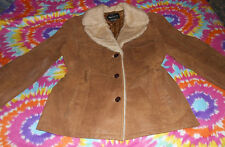 Victorias Secret Moda International Distressed Leather Jacket Camel Size L EU