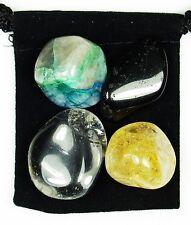 NERVE DAMAGE REPAIR Tumbled Crystal Healing Set = 4 Stones + Pouch + Description