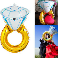 84*54cm Diamond Ring Foil Helium Balloon Wedding Engagement Hen Party Decoration