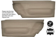 En cuir beige 2X porte avant carte trim covers fits vw beetle 1998-2010