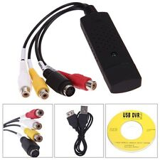 USB a 3 RCA AUDIO VIDEO TV VHS DVD RW ACQUISIZIONE CONVERTITORE ADATTATORE PC NUOVO