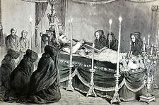 Mulberry St. - NYC VICAR GENERAL STARRS at DEATH Nuns Praying 1873 Print Matted