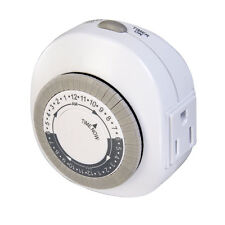 Westek 1 Outlet Daily Timer 24 On 24 Off Per Day 1 Ground Outlet White NEW