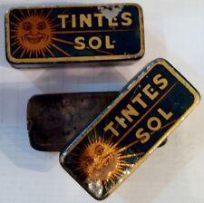 Año 1940/50. 1 Cajita Publicitaria de Metal (hojalata) 1 de la FOTO. TINTES SOL.