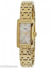 Rotary Womens Mother of Pearl Dial Gold Tone Bracelet Watch LB700052/41