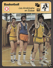 JOHN GALLAGHER & MIODRAG KRESOVIC Swiss Basketball 1978 FRANCE SPORTSCASTER CARD