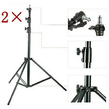 S3Ax2 PAIR HeavyDuty Studio Light Stand 300CM 10ft AIR Cushioned top quality3MET