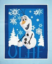 FROZEN Olaf Disney Quilt top Wall Hanging Fabric by the panel