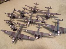 WW II German Luftwaffe Collection II: (10) Built and Painted Models, 1/144 Scale