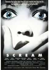 Scream - Wes Craven - Neve Campbell - A4 Laminated Mini Poster