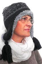 Strickmütze Wintermütze mit Teddyfutter sehr dick und warm Wind,Winter.Mütze
