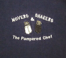 PAMPERED CHEF T shirt lrg kitchen tools Illinois Movers & Shakers embroidery tee