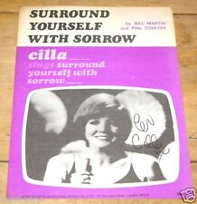 CILLA BLACK ~ SURROUND YOURSELF ~ HAND SIGNED ORIGINAL 1960s SONG MUSIC SHEET