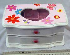 Girls Pink and White Jewelry Box