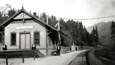 """1915 PHOTO WOLF CREEK OREGON Josephine Co RR DEPOT"