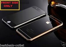 Apple iPhone 6 - Black Tempered Glass - Mirror Shiny Effect - Front Side Only