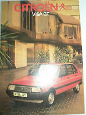 Citroen Visa GT brochure May 1983