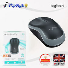 New Genuine Logitech Wireless Mouse M185 Grey For PC MAC 1 Year Battery Life