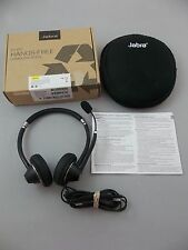 Jabra UC Voice 750 MS Duo Dark Color USB Headband PC NC Headset with Carry Case