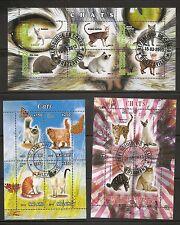 Malawi, Congo Brazzaville, Tchad 2013 Cats. 3 Miniature sheets. MNH