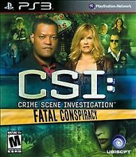 CSI: Crime Scene Investigation - Fatal Conspiracy (Sony PlayStation 3, 2010)