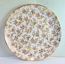 Vintage DUBARRY ROSE CHINTZ DESSERT TEA PLATE Pink & Gold TUSCAN Fine Bone China