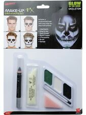 Halloween GLOW IN THE DARK SKELETON Face Paint Kit Smiffys
