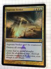 Mtg Magic the Gathering Return to Ravnica Supreme Verdict FOIL