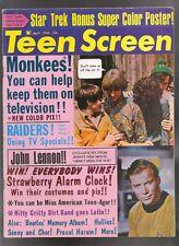 Teen Screen Magazine V 10 4 VF+ The Monkees Davy Jones Beatles Star Trek Nimoy